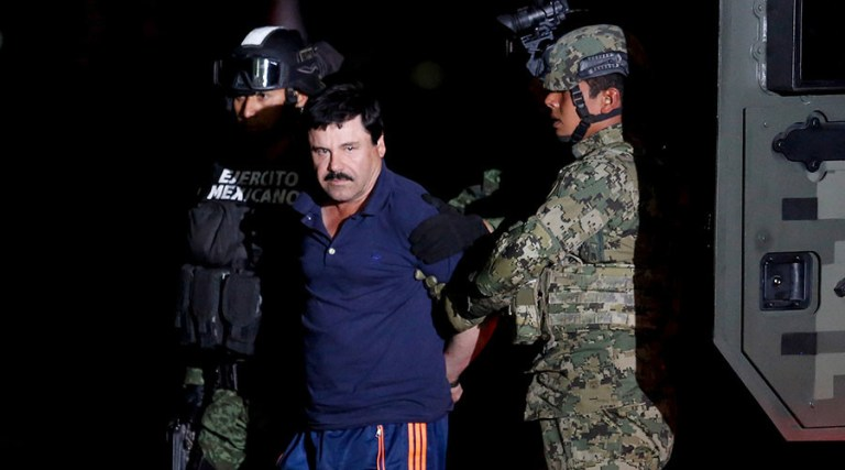 'El Chapo' Guzmán, sentenced to life imprisonment in the US for drug trafficking