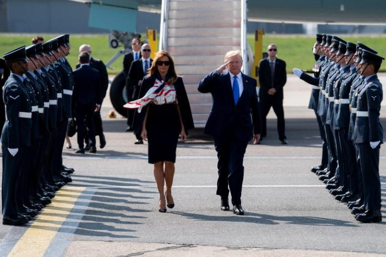 Trump arrives in London for his state visit to the United Kingdom