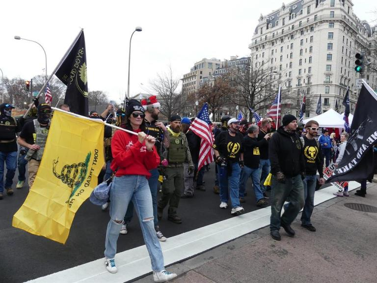 Hundreds of Trump supporters gather in Washington to protest Biden's victory