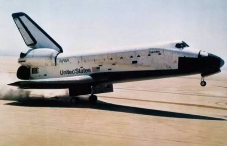 It is 40 years since the first landing of the space shuttle