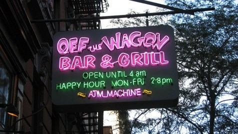 Photo: Signage in Manhattan - Off the Wagon Bar & Grill