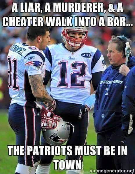 Image:  The Patriots Must be in Town