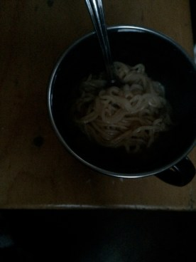 Dinner for the night: hearty beef noodles.