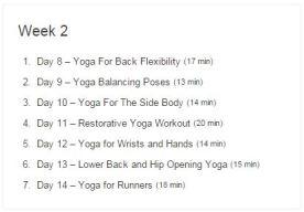 Week 02 - 30 Day Yoga Challenge.