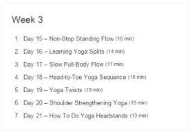 Week 03 - 30 Day Yoga Challenge.