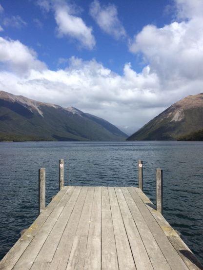 Lake Rotoiti wharf.