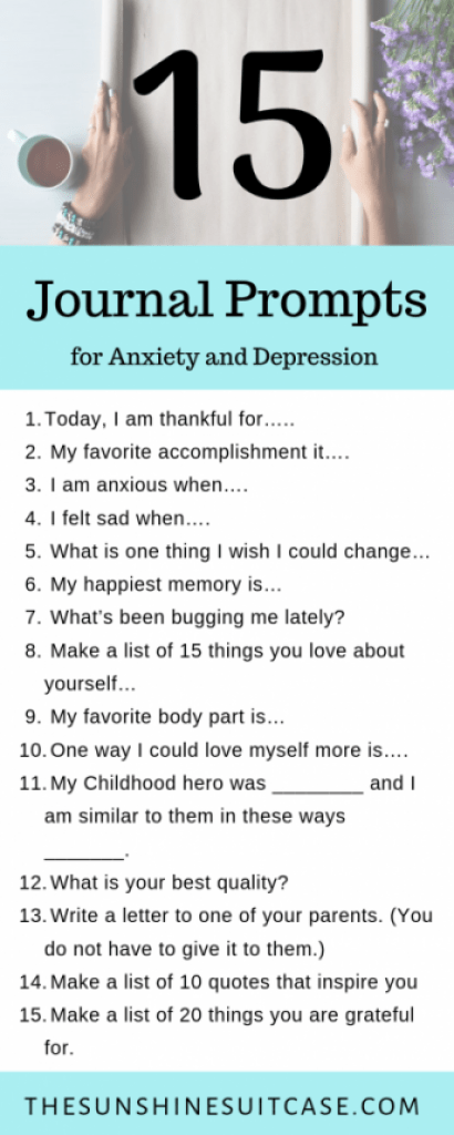 15 Journal Prompts for Me natal Health, Anxiety and depression