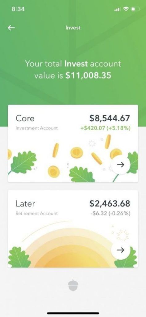 Acorns- Invest in Your Finances