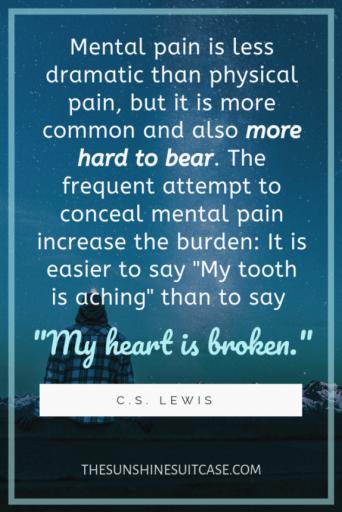 C.S. Lewis My heart is broken