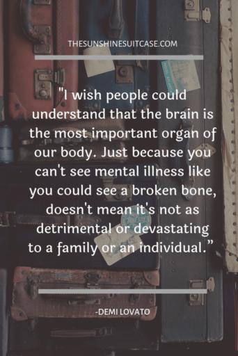 Mental Health Quote Demi Lovato