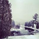 Semi frozen lake