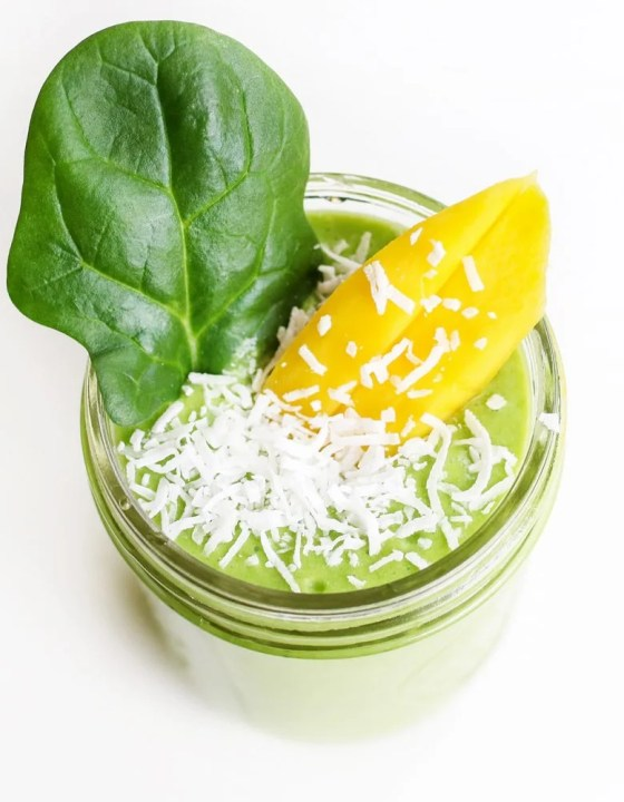 Dairy Free Mango Coconut Green Smoothie