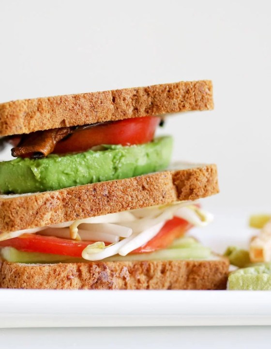 The Ultimate Vegetarian Sandwich Featuring Udi's Multigrain Bread
