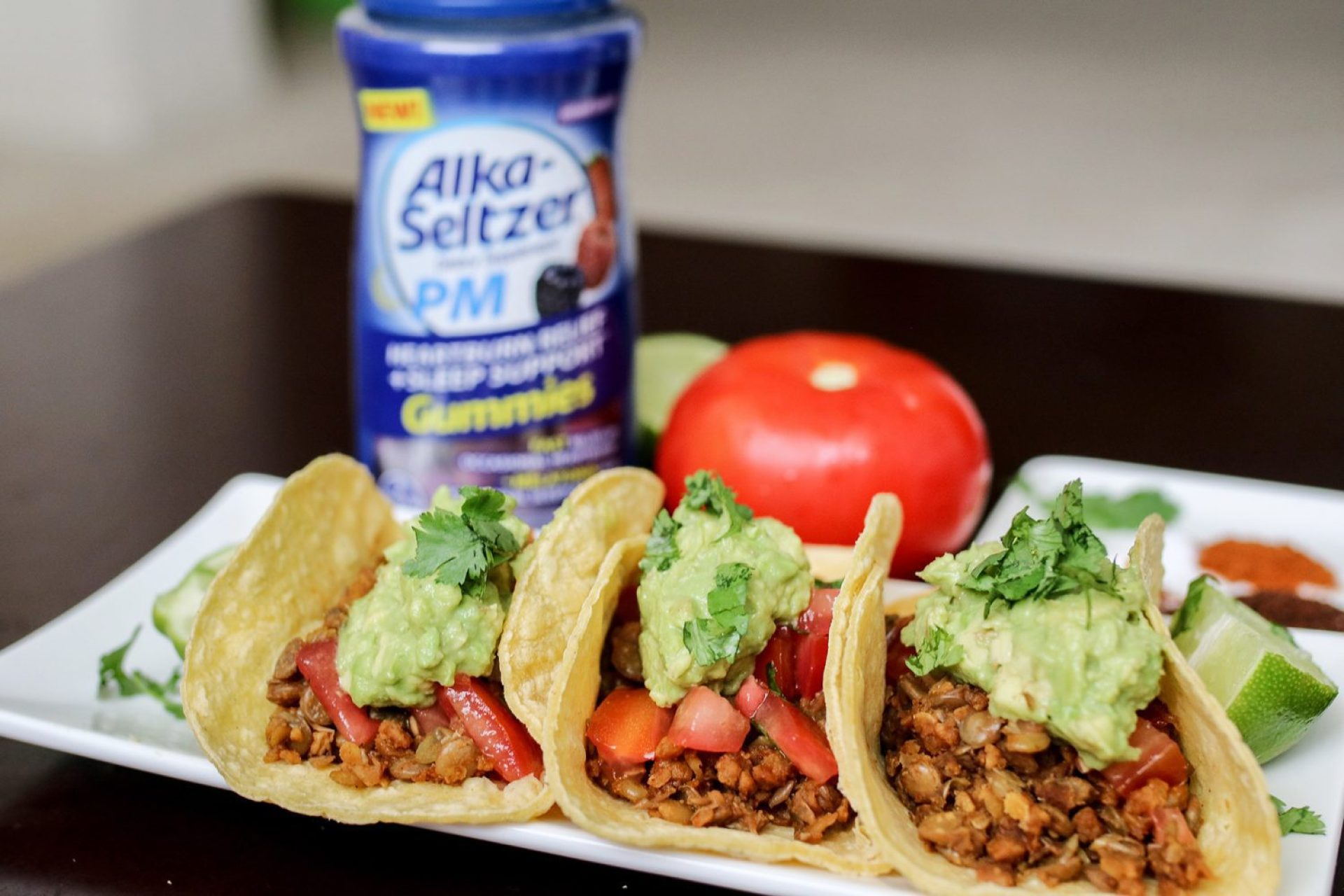 vegetarian dishes, vegetarian tacos, lentil tacos, spicy foods, spicy dishes, spicy recipes, vegetarian recipes, alka-seltzer, alka-seltzer PM, alka-seltzer PM gummies, mommy blog, mom blogger, family blog, family influencer, instagram, mother, father, tween blog, dad blog, United States, 2018, mom blog, top, best, mommy blogger, daddy blog, tween blogger, child brand influencer, the super mom life, dad blog, dad blogger