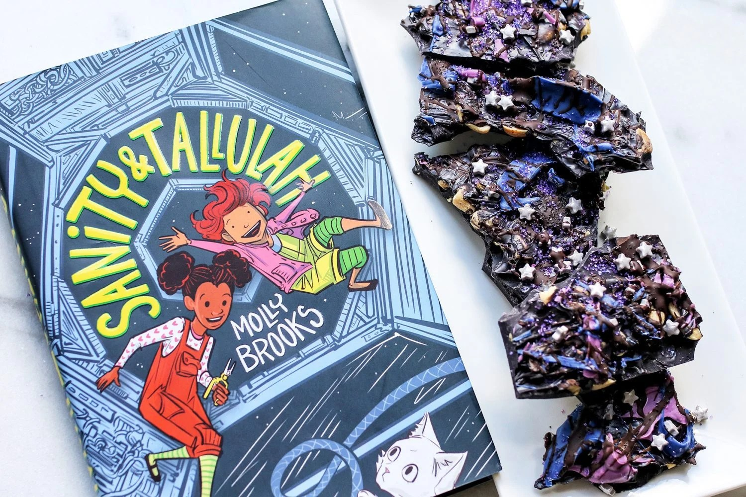 space bark, space-inspired recipe, sanity & tallulah, reading, disney books, science, STEM, recipe, recipes, kid foods, mom blog, family friendly snacks, recipe, food blog, food bloggers, mommy blog, mom blogger, family blog, family influencer, instagram, mother, father, tween blog, dad blog, travel family blog, United States, 2018, mom blog, top, best, mommy blogger, daddy blog, tween blogger, child brand influencer, the super mom life, dad blog, dad blogger