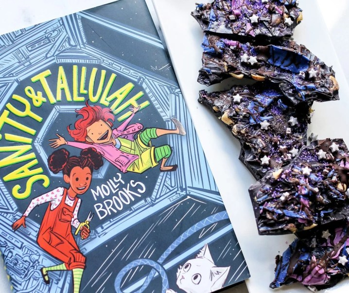 Space Bark – An Out of This World Snack + Sanity & Tallulah by Molly Brooks