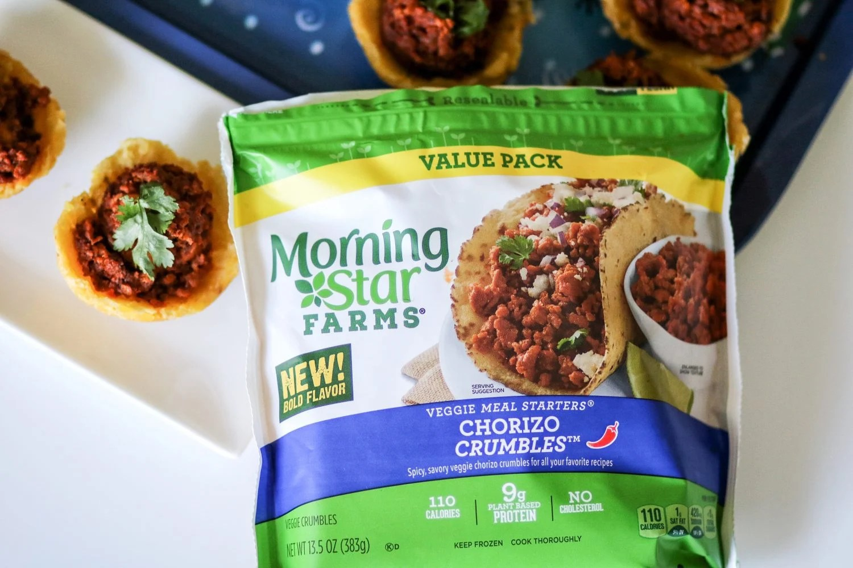 Shrimp Chorizo Tostones Bowls Featuring Morningstar Farms Chorizo Crumbles The Super Mom Life