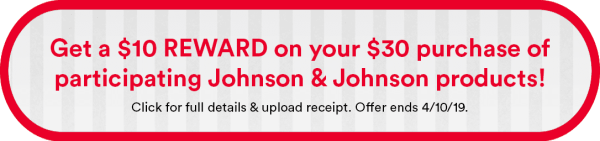refund, johnson & johnson, organization, tiny home, organizing a small home, bathroom, medicine, marie kondo, coupons, couponing, saving money, budget, shopping on a budget, coupon, printable coupon, print at home, 2019