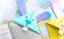 bunny bookmark, how to make a bunny bookmark, paper crafts, paper crafts for kids, easy crafts for easter, easy crafts for spring, crafts for easter, easter, kids, diy, 2019, ideas for easter, crafts for kids