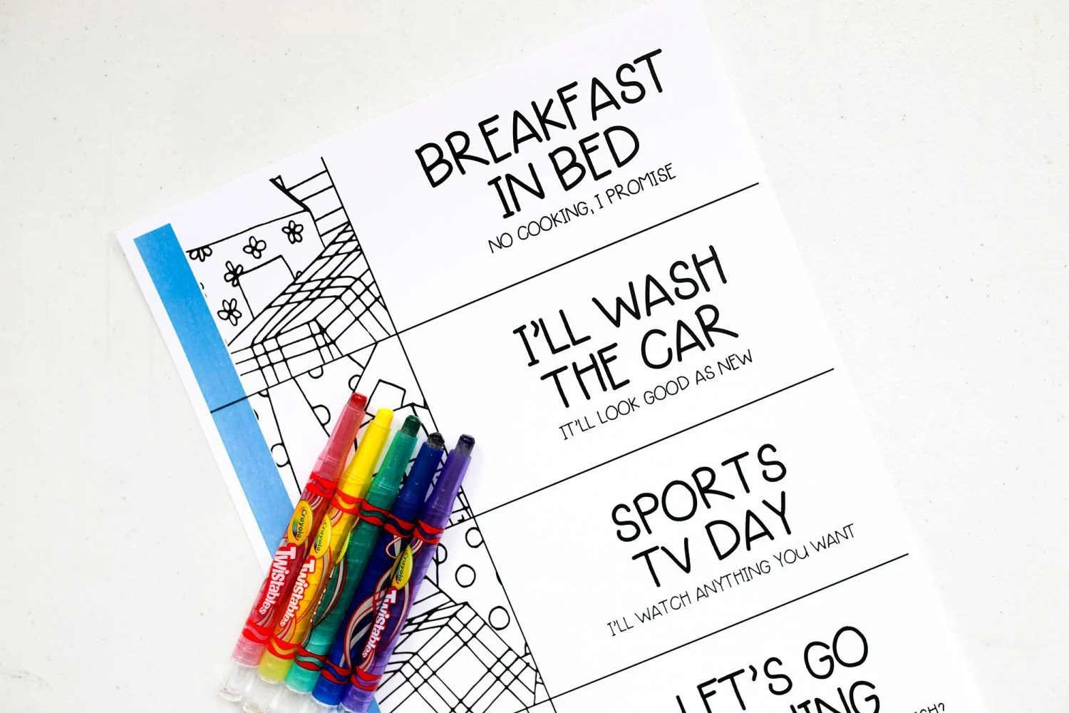 Father's day, father's day coupon book, crafts, craft, crafts for father's day, father's day craft, kids, gift idea, diy, kids craft, crafts for kids, 2019, ideas for father's day, gifts from kids, diy, activity book, free printable, printable, coupon book for father's day