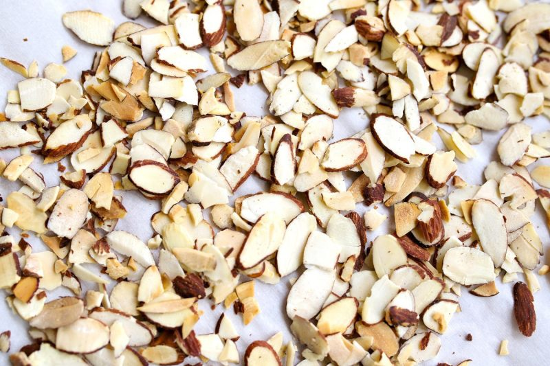 toasted almonds to add to almond joy ice cream pie