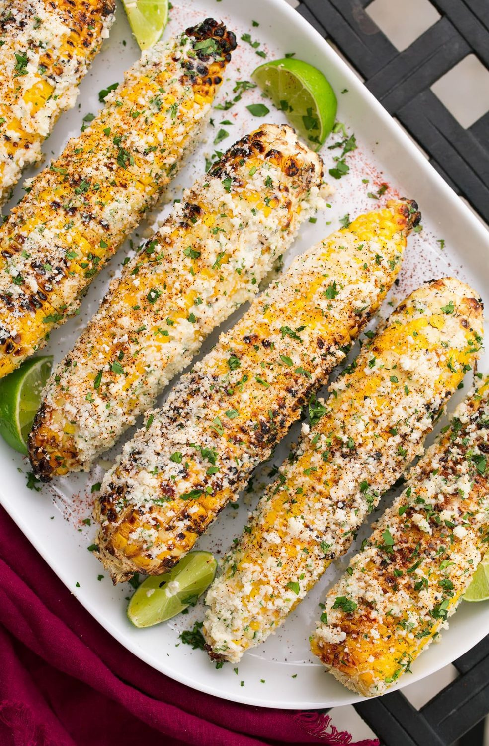 Grilled Mexican Street Corn by Jaclyn at Cooking Classy