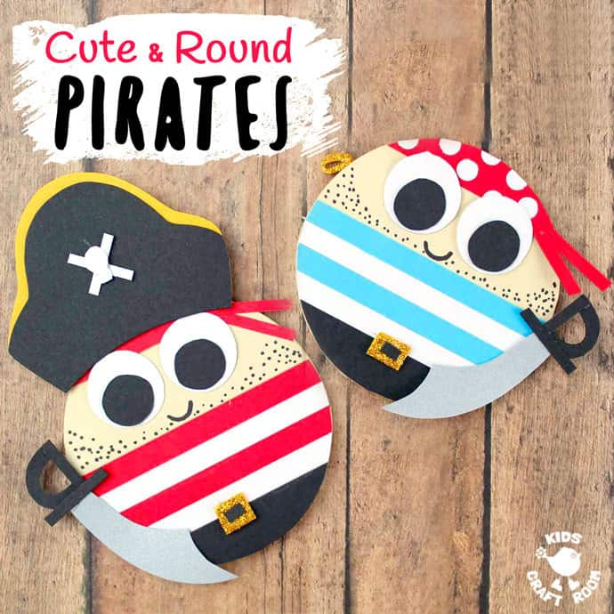 cute and round pirates summer craft idea for kids