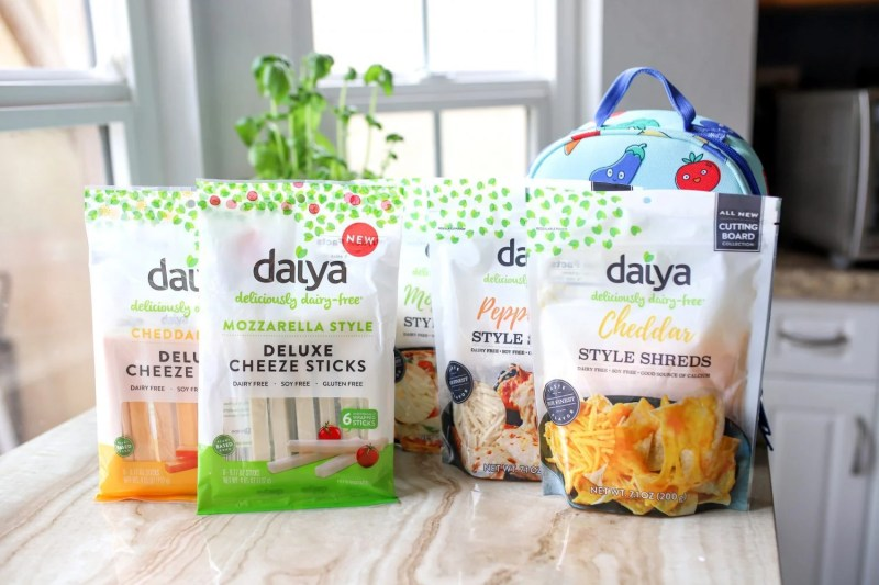 variety of daiya plant based cheeses