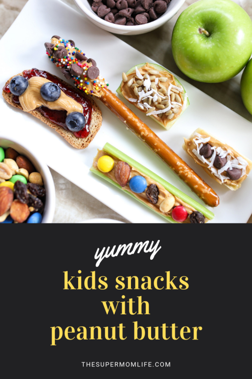 Back to school time means new snack ideas that are easy for the kids. Here are our family's 5 fun snack ideas that include peanut butter!