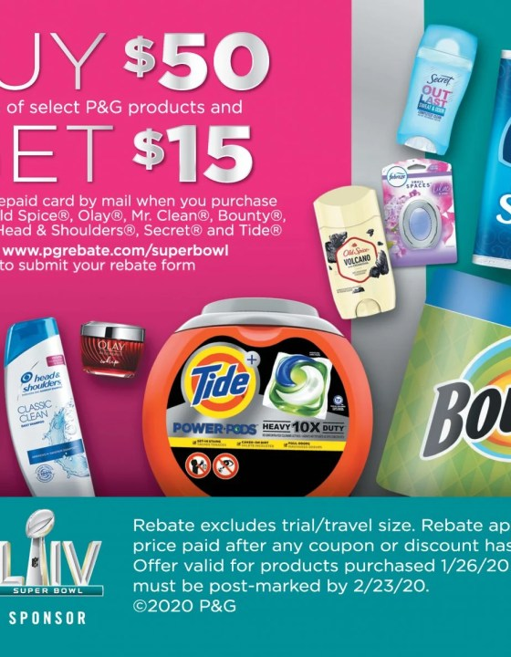 P&G Rebate Available Now Through February 9, 2020