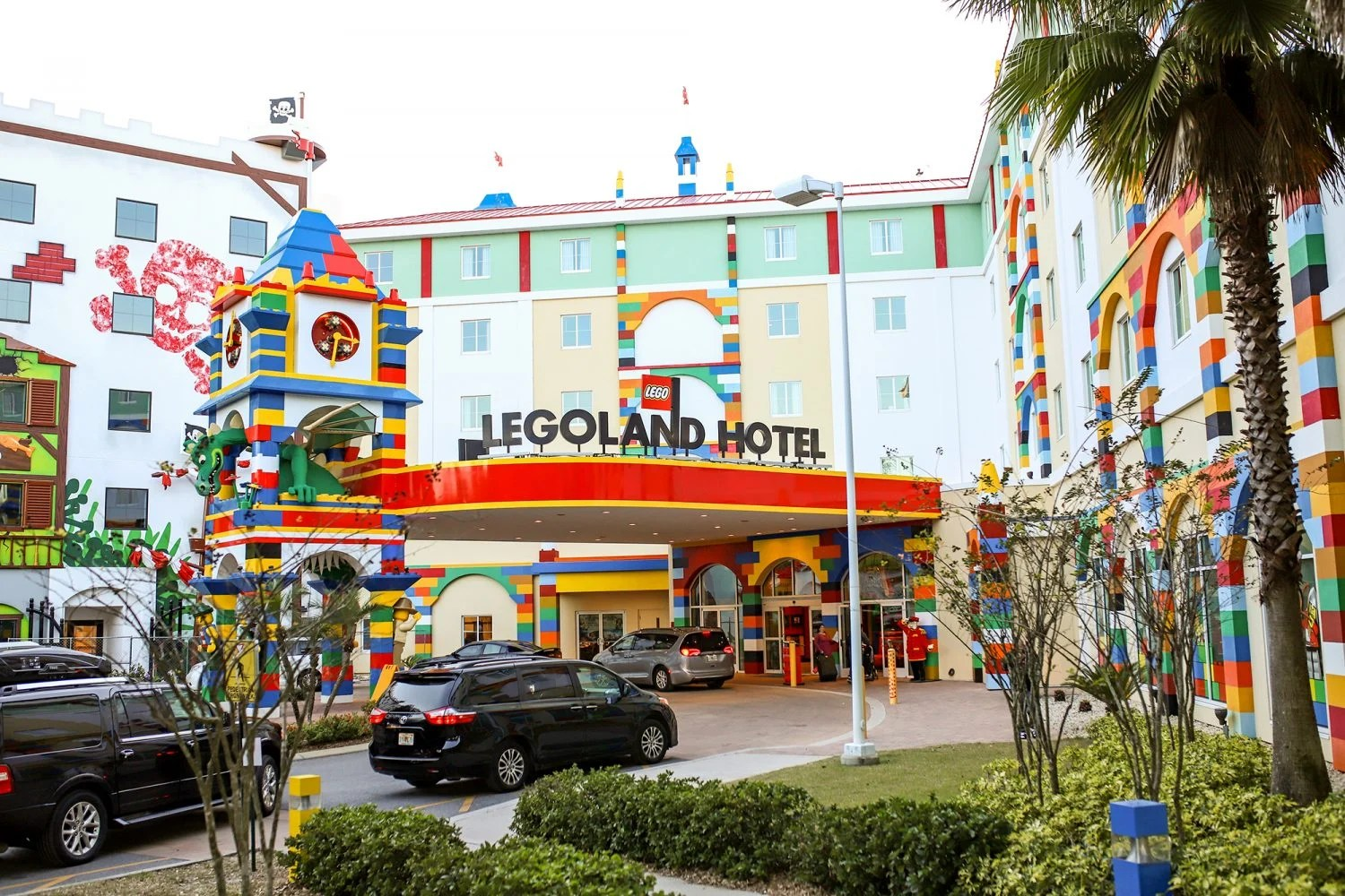 front of the legoland hotel