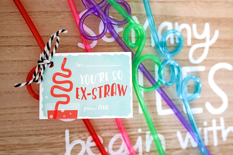 You're so Ex-Straw valentine's day idea