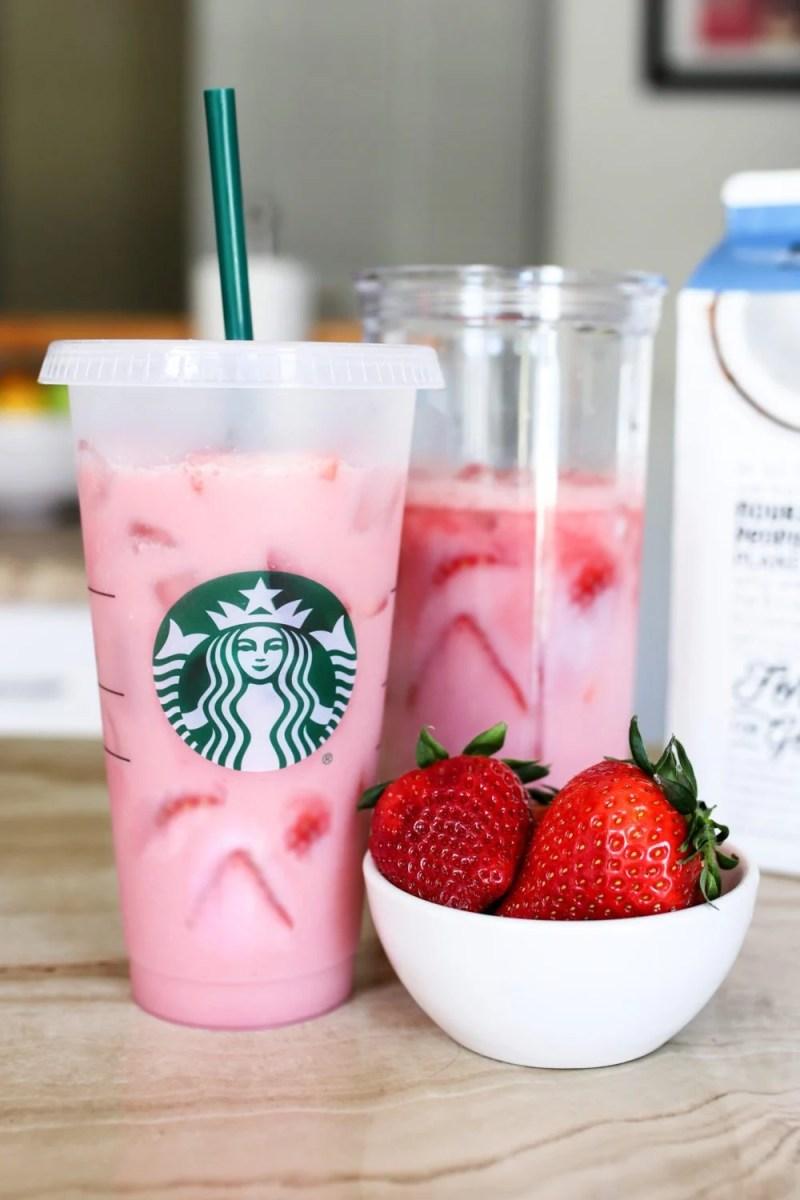 result of starbucks pink drink copycat recipe