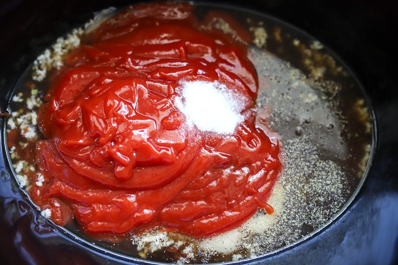 ingredients to make homemade bbq sauce
