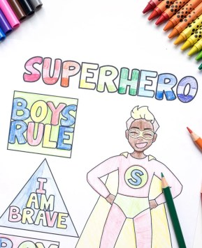 Superhero Coloring Pages Free Printable