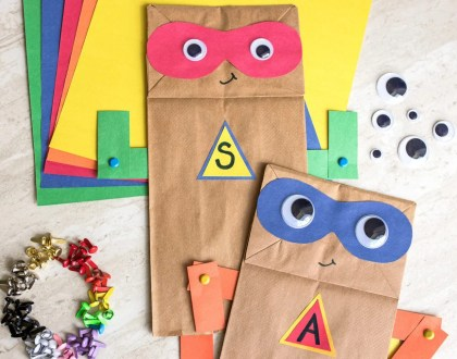 Superhero Paper Bag Craft with Free Printable
