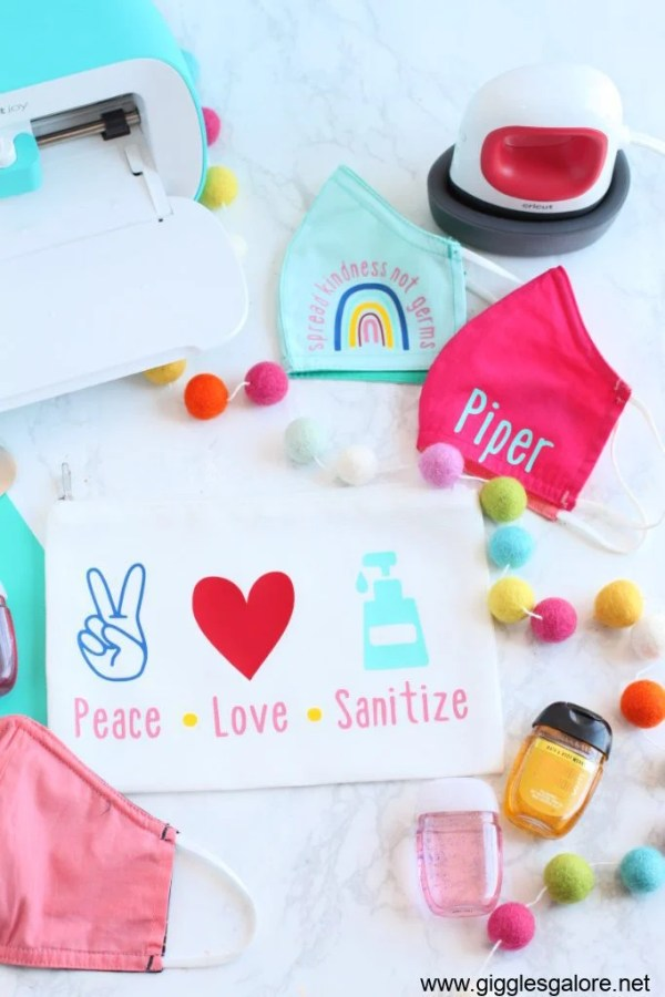 If your kids are going to school in person, why not send them back safely and in style? This adorable face mask and essentials bag idea from Giggles Galore are perfect!