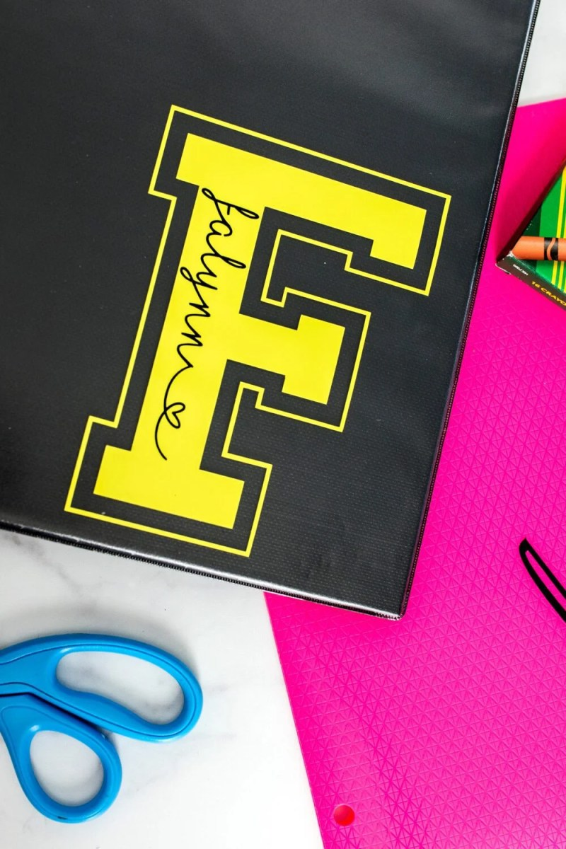 personalized binder and folder