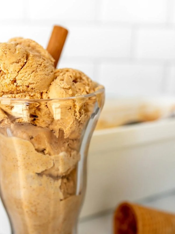 Pumpkin Spice Latte No Churn Ice Cream