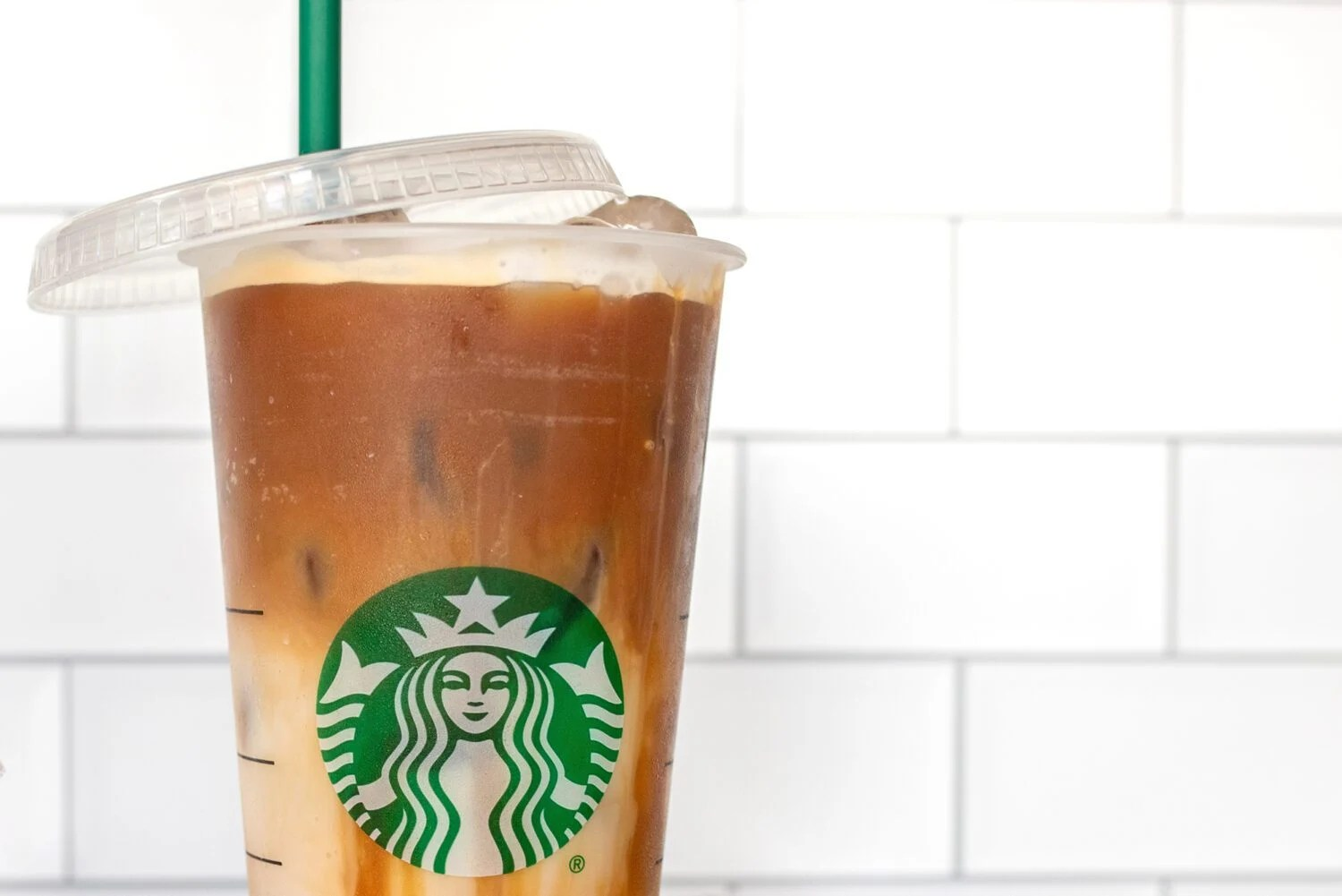 Starbucks cup with lid off