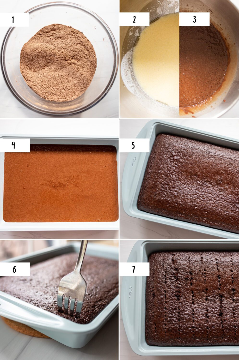 steps to make chocolate tres leches cake
