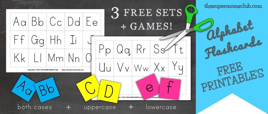 FREE Printable Alphabet Flashcards & Games - thesupermomsclub.com