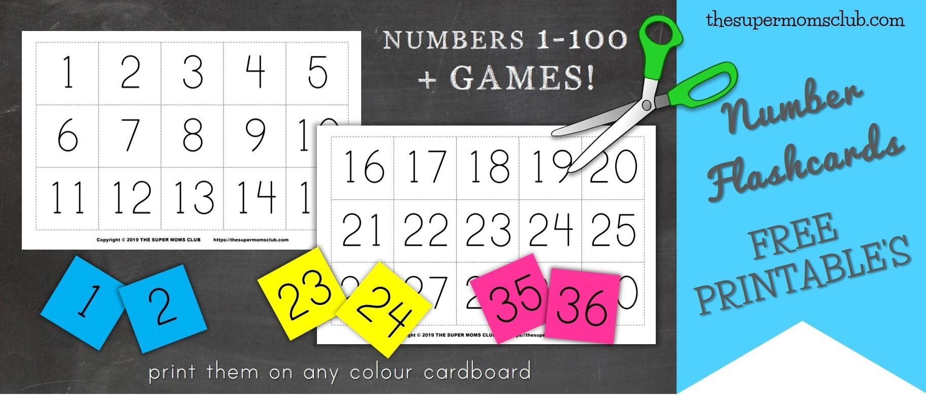 image relating to Printable Numbers 1-100 titled Totally free Printable Range Flashcards - The Tremendous Mothers Club