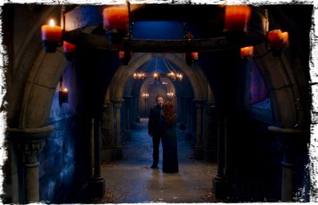 Rowena suggests to Crowley they take a trip to exact revenge on an old nemesis of hers