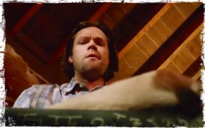 Sam Winchester looks down Supernatural Book of the Damned