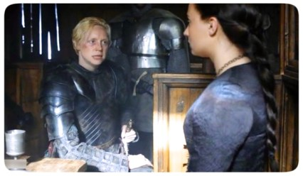 Brienne Sansa Game of Thrones The House of Black and White