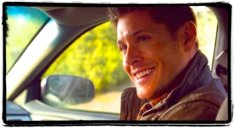 """Dean smiles. Supernatural Season 10 Episode 19 """"The Werther Project"""""""