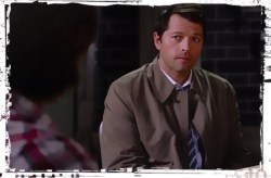 Castiel looks at Sam The Bad Seed Supernatural