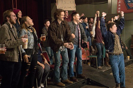 "Supernatural -- ""Beyond The Mat"" -- Image SN1115b_0264.jpg -- Pictured (L-R): Jared Padalecki as Sam and Jensen Ackles as Dean -- Photo: Liane Hentscher/The CW -- © 2016 The CW Network, LLC. All Rights Reserved."