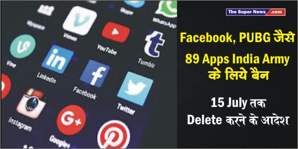 Indian Army Apps Banned